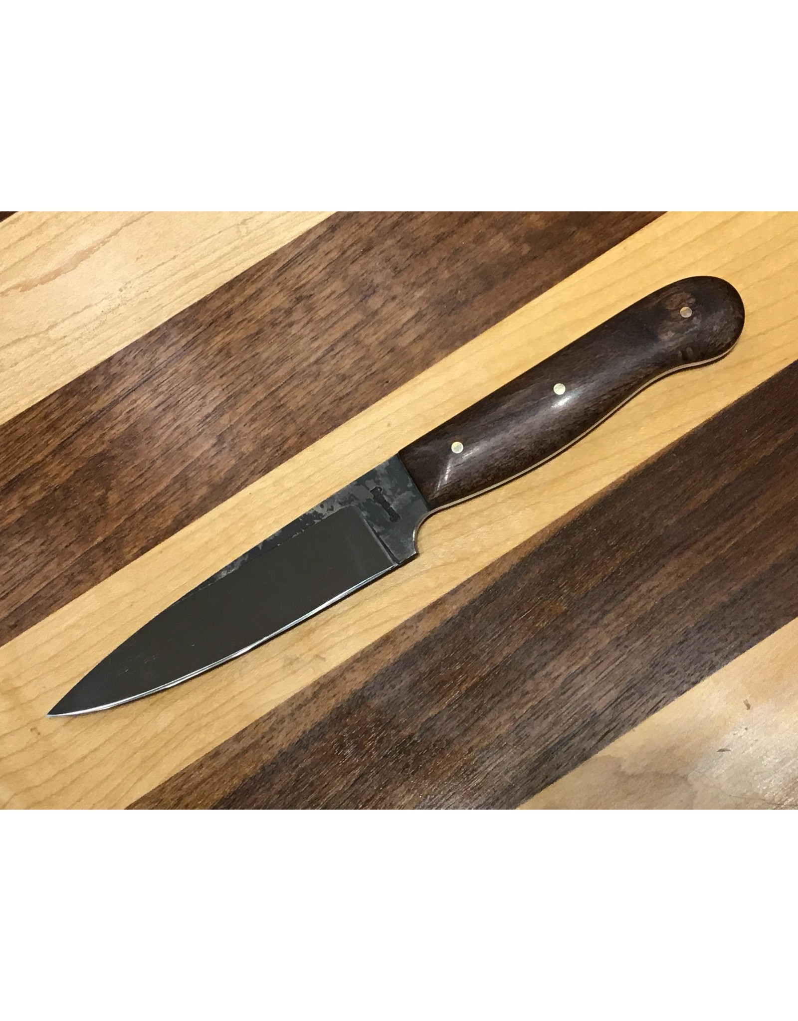 "Serenity 4 3/8"" Paring Knife in High Carbon Steel with Mesquite Handle"