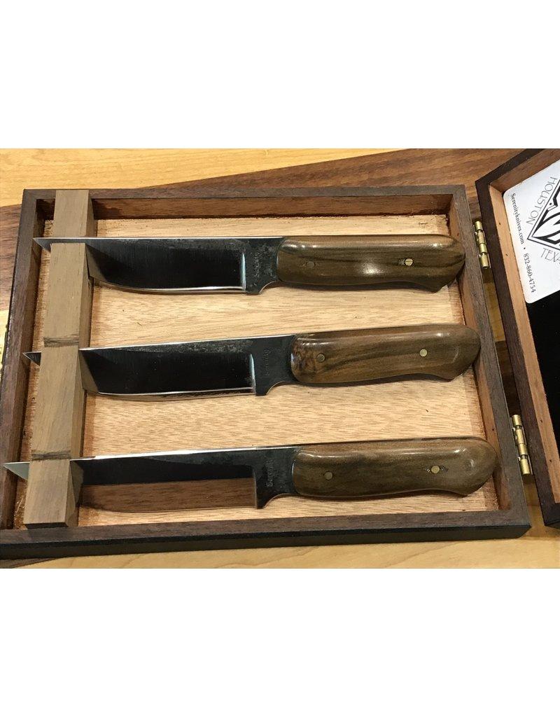 Serenity Straight Back Steak Knives - Set of 3