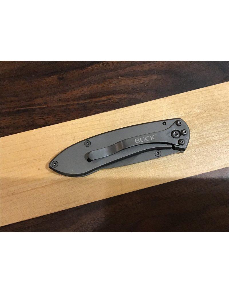 Buck Buck Nobleman Frame Lock Knife Stainless Steel Gray