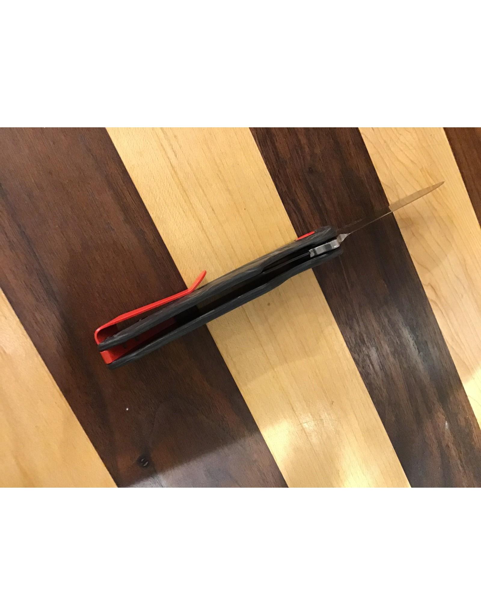 Buck Buck Sprint Pro Liner Lock Marble Carbon Fiber