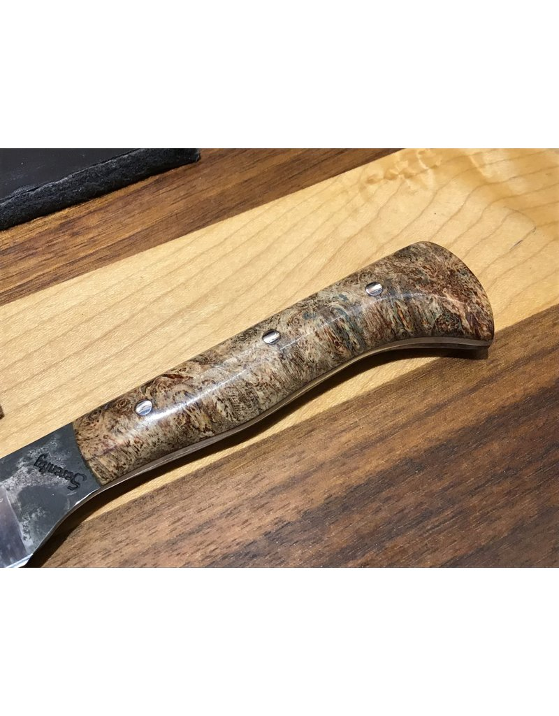 Serenity Apprentice Paring Knife with Maple Burl Handle
