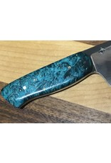 Serenity Euro Petty Kitchen Knife, CPM with Blue Box Elder