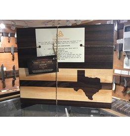 Trinity Craftsman Small Cutting Board with Texas Inlay - Maple & Walnut