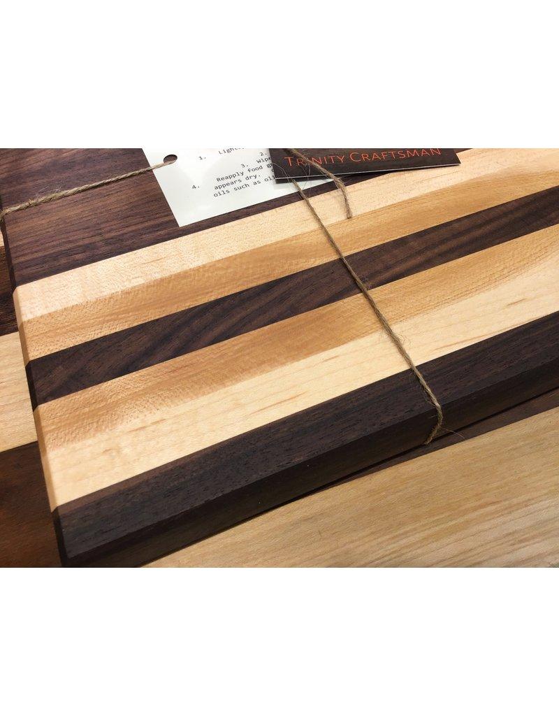 Trinity Craftsman Small Cutting Board Walnut and Maple Laminate