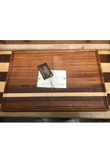 Trinity Craftsman Large Cutting Board with Juice Groove - Sepele, Walnut & Maple