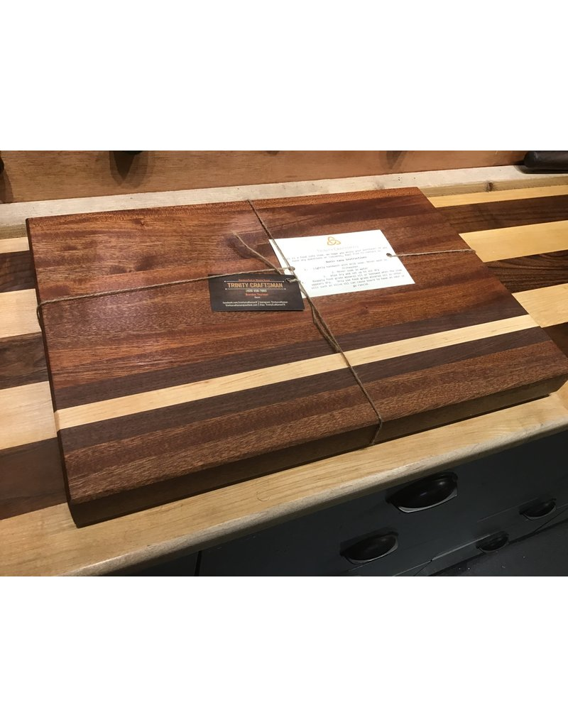 Trinity Craftsman Large Cutting Board - Sepele, Walnut & Maple