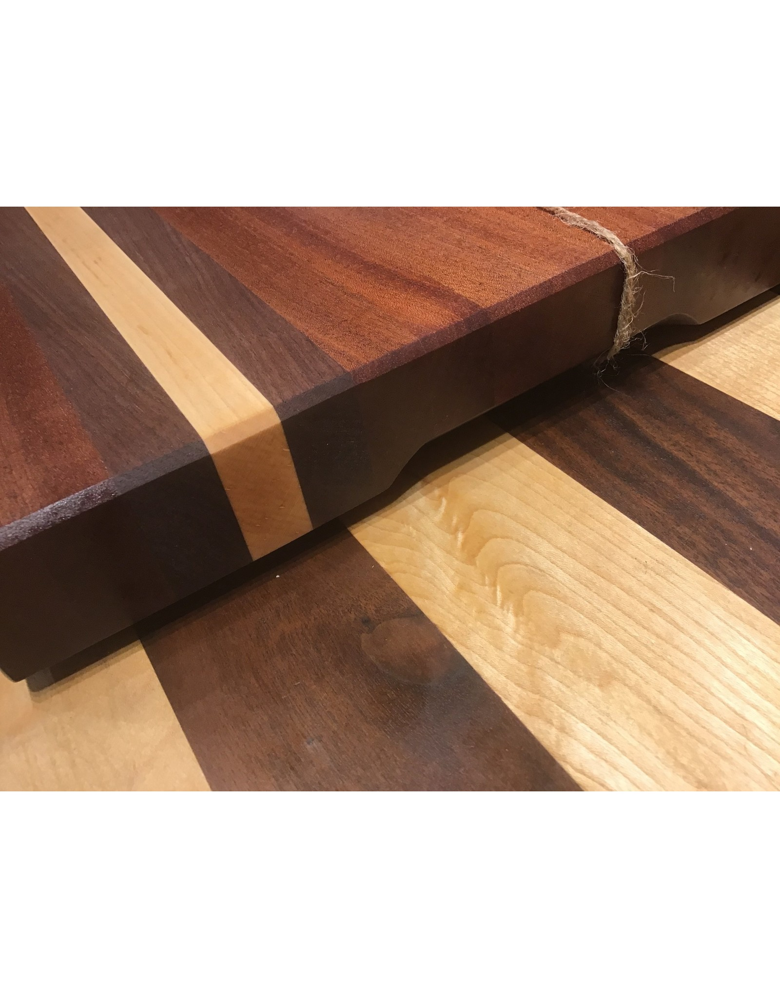 Trinity Craftsman Large Cutting Board - Sepele, Walnut & Maple
