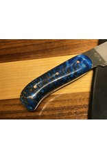 Serenity Boning Knife with Sky Blue Pine Cone Handle in CPM154 Stainless steel
