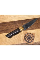 Serenity Paring Knife - Thick Spine Giraffe Bone Bolster and Desert Walnut in CPM154