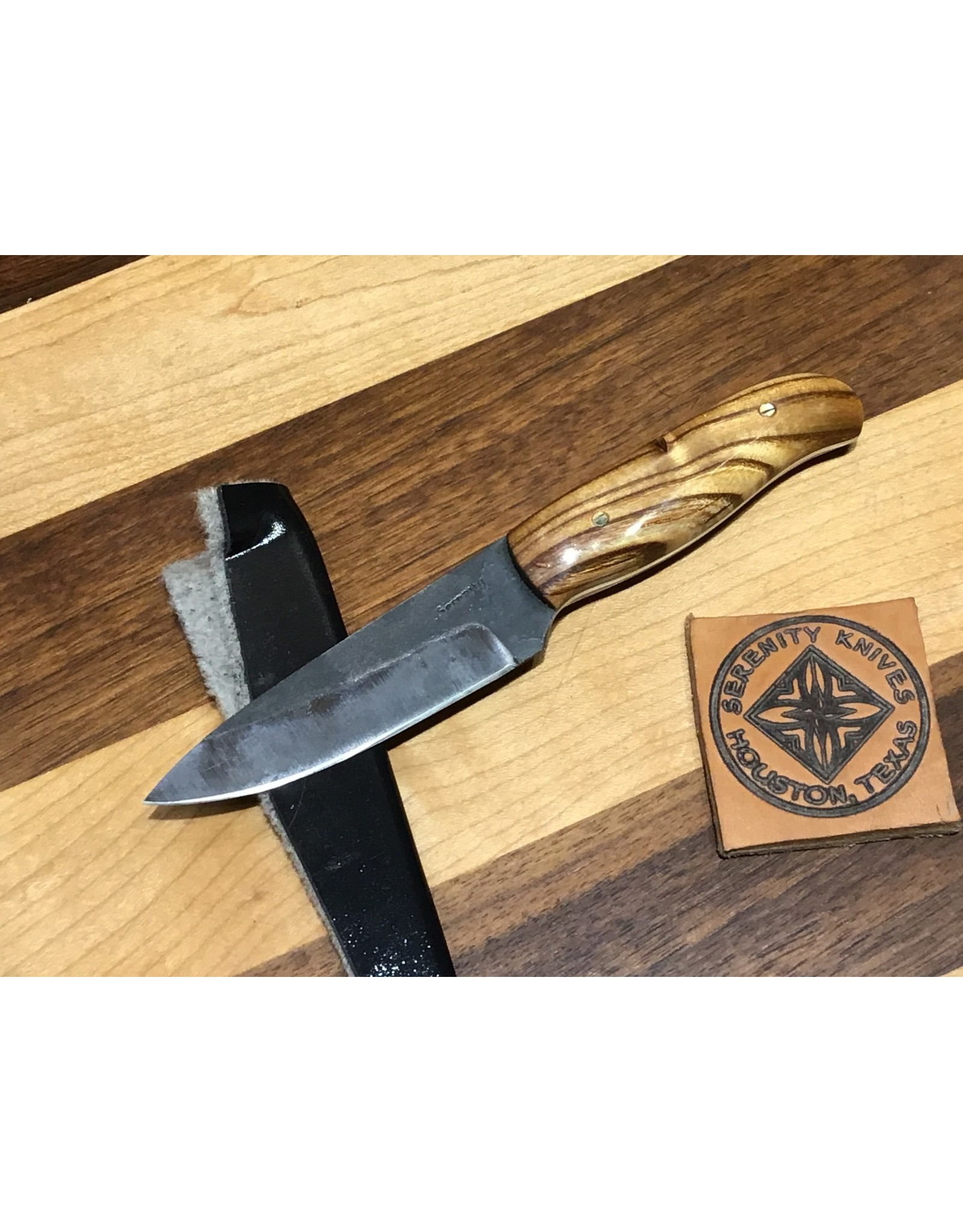 Serenity Paring Knife Combination Antiqued and Buffed Forge Finish
