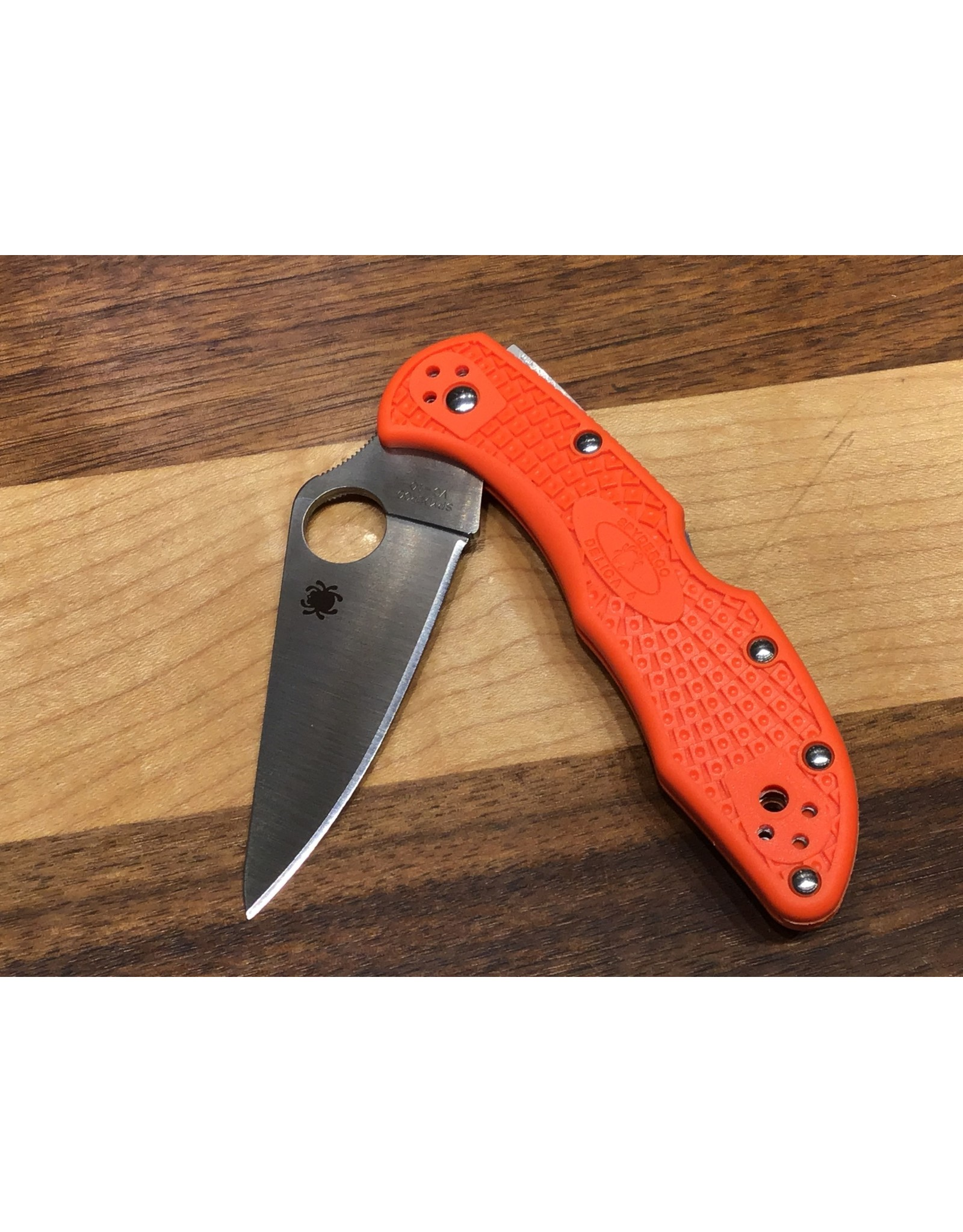 Spyderco Spyderco Delica 4 Orange FRN Flat Ground