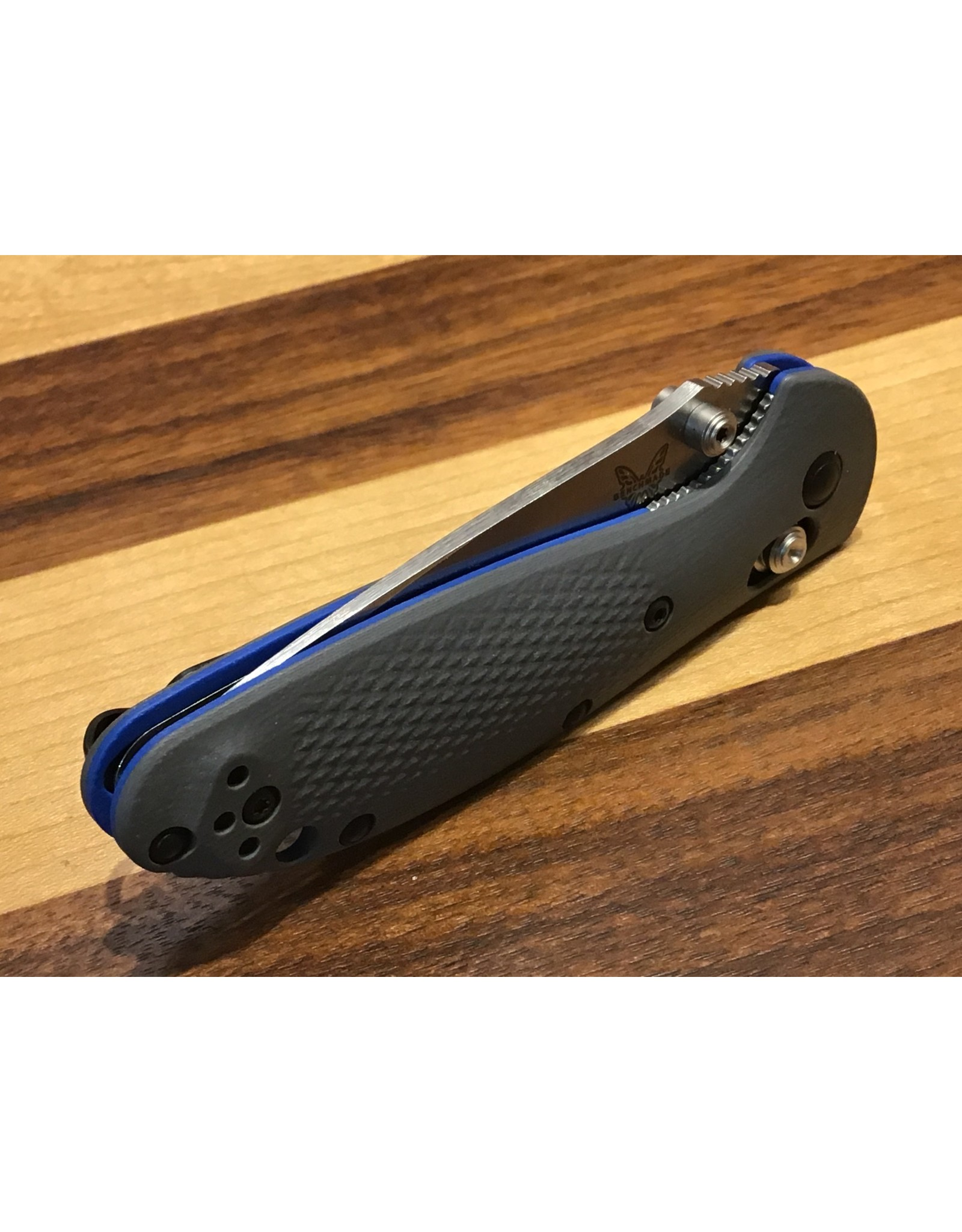 Benchmade Mini Griptilian UPGRADED CPM20CV with Blue & Grey G-10