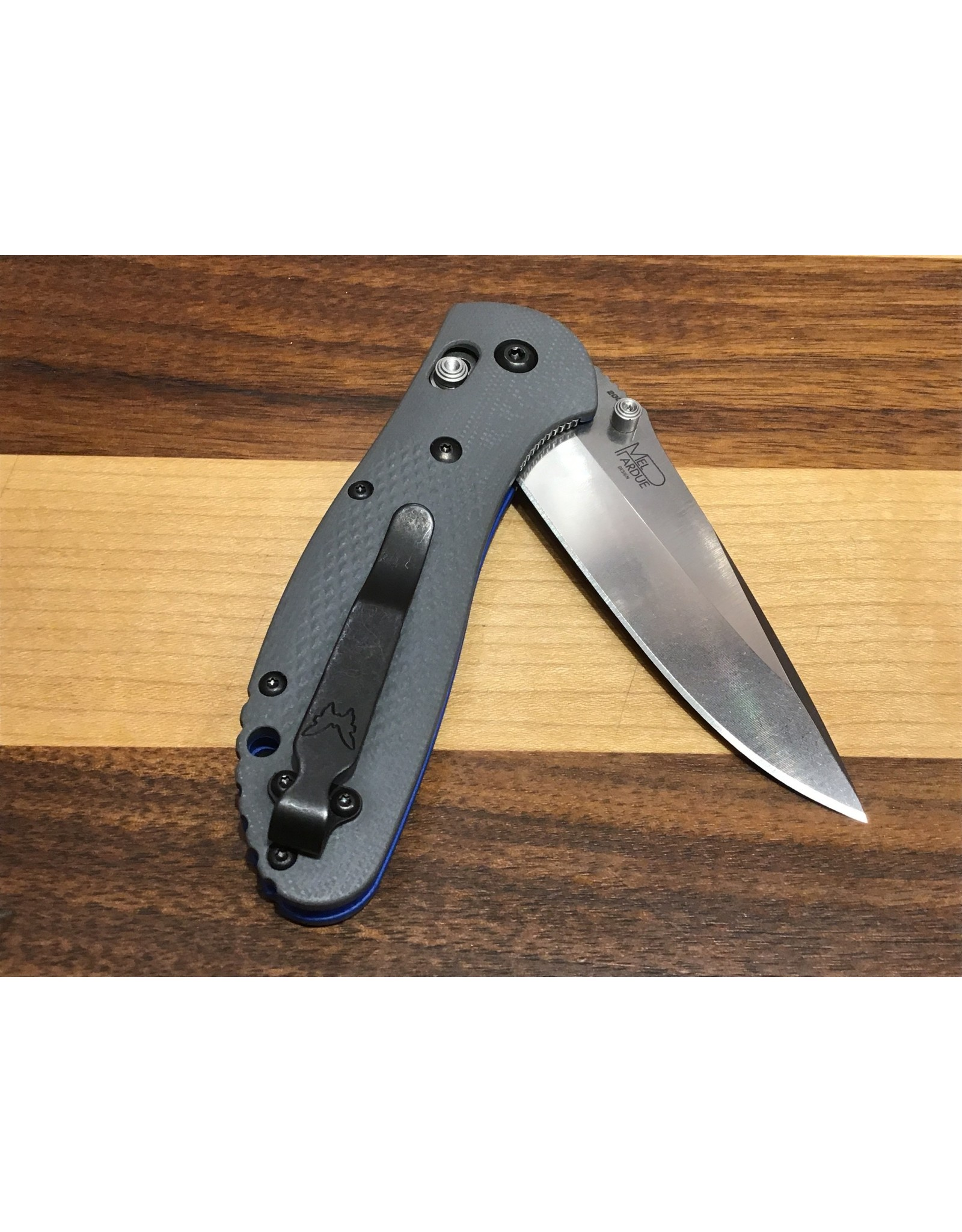 Benchmade Griptilian UPGRADED CPM20CV with Grey & Blue G-10