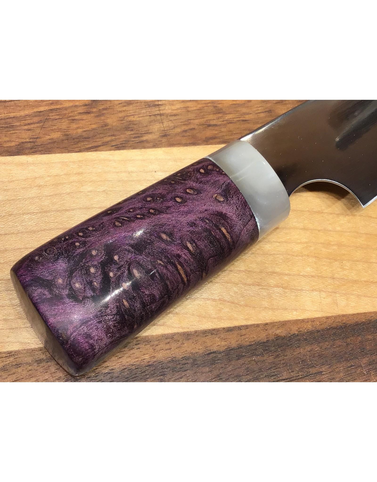 Serenity Mini Gyuto - Wa handle with Pearl Resin & Purple Box in CPM154