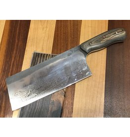 Serenity Chinese Cleaver in High Carbon with Black Oak Handle
