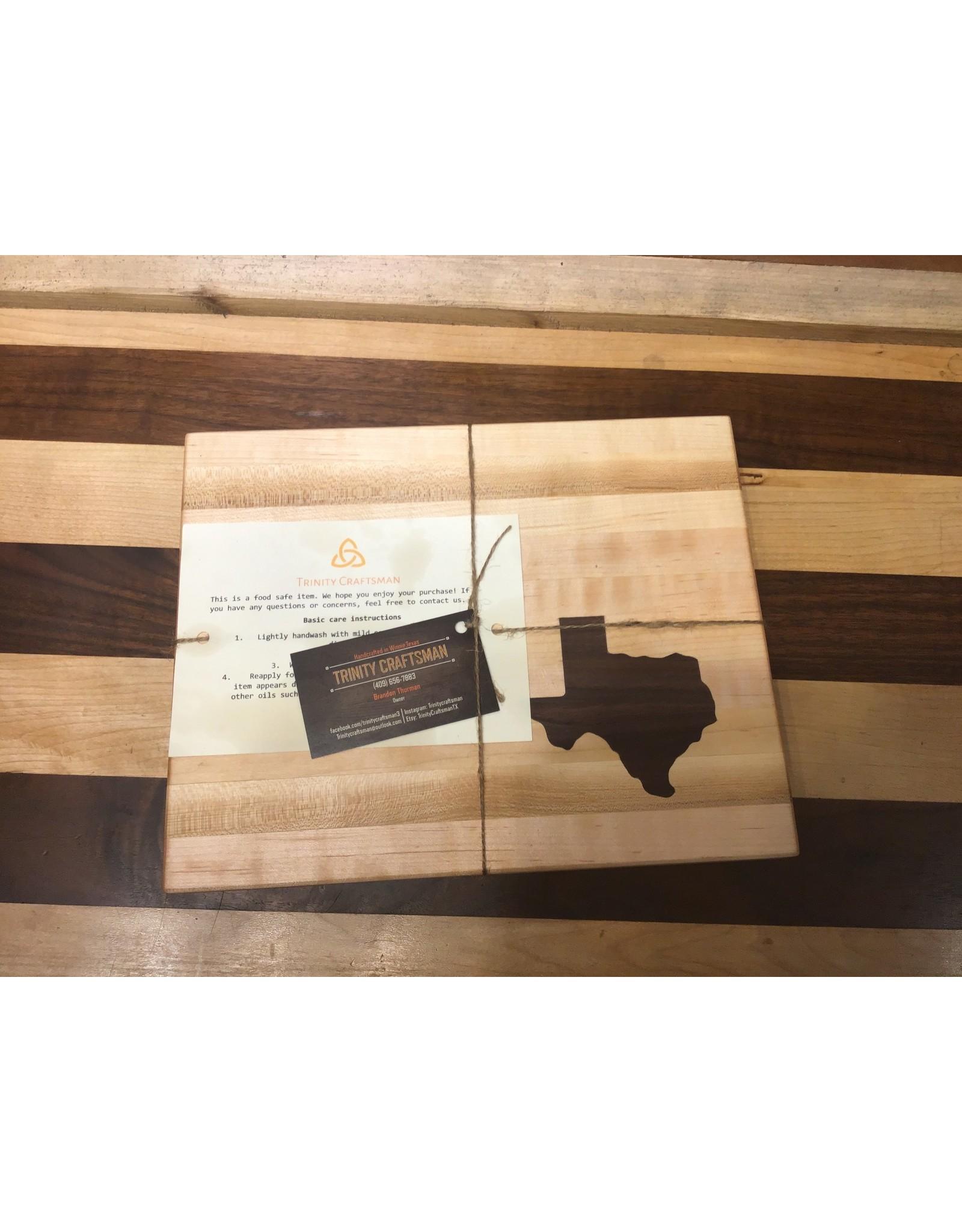Trinity Craftsman Small Cutting Board Maple Walnut Texas