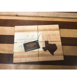 Trinity Craftsman Small Cutting Board Maple Walnut Texas