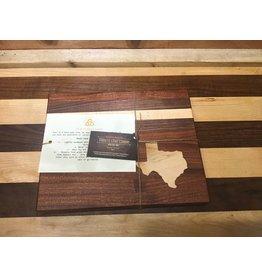 Trinity Craftsman Small Cutting Board Sapele Walnut Maple Texas