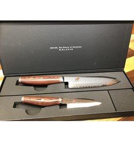 """Miyabi Miyabi Artisan 6"""" Chef & 3.5"""" Paring Knife Chef Set 6000MCT"""