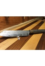 Serenity Triple Acid Etched Wa Handled Chef Knife with a Black Dyed Oak Handle and Spalted Sugar Maple Ferule