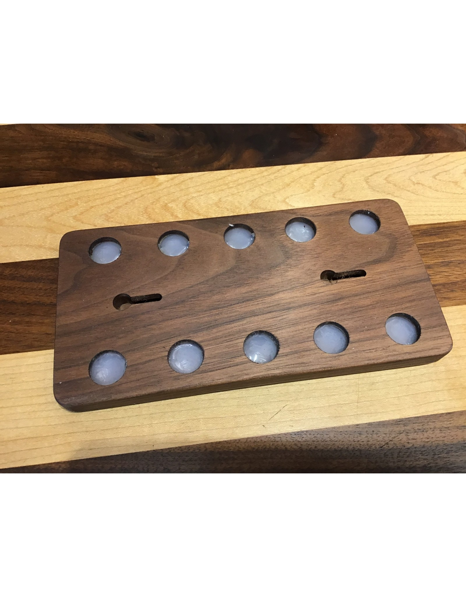 "Serenity Racks 8"" Walnut Magnetic Knife Rack"