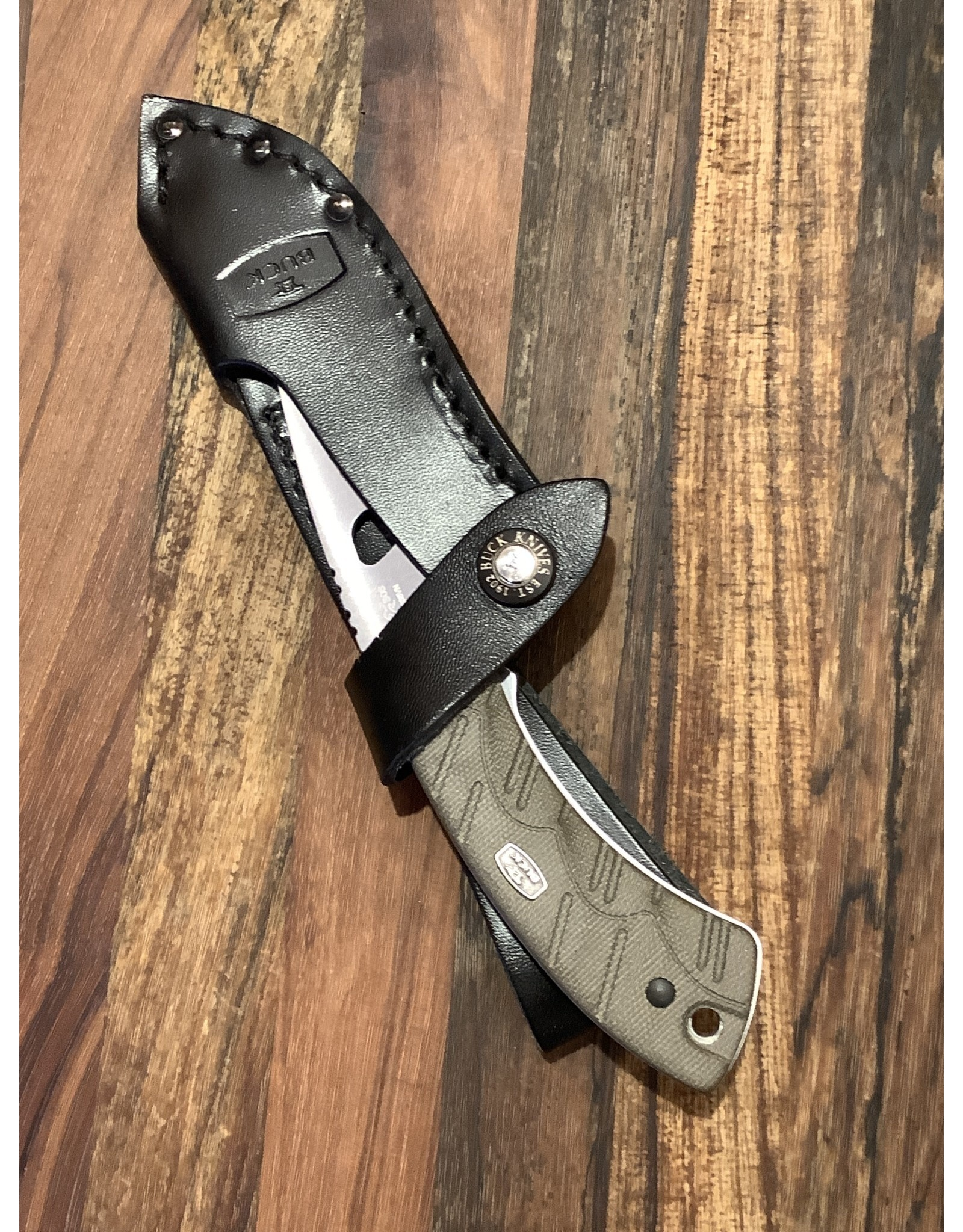 Buck BUCK Open Season Skinner Guthook OD Green Micarta