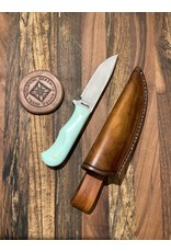 Serenity Small Drop Point Hunter with Turquoise G-10