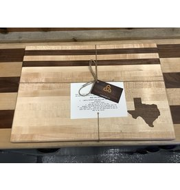 Trinity Craftsman Large Cutting Board Maple, Walnut Texas