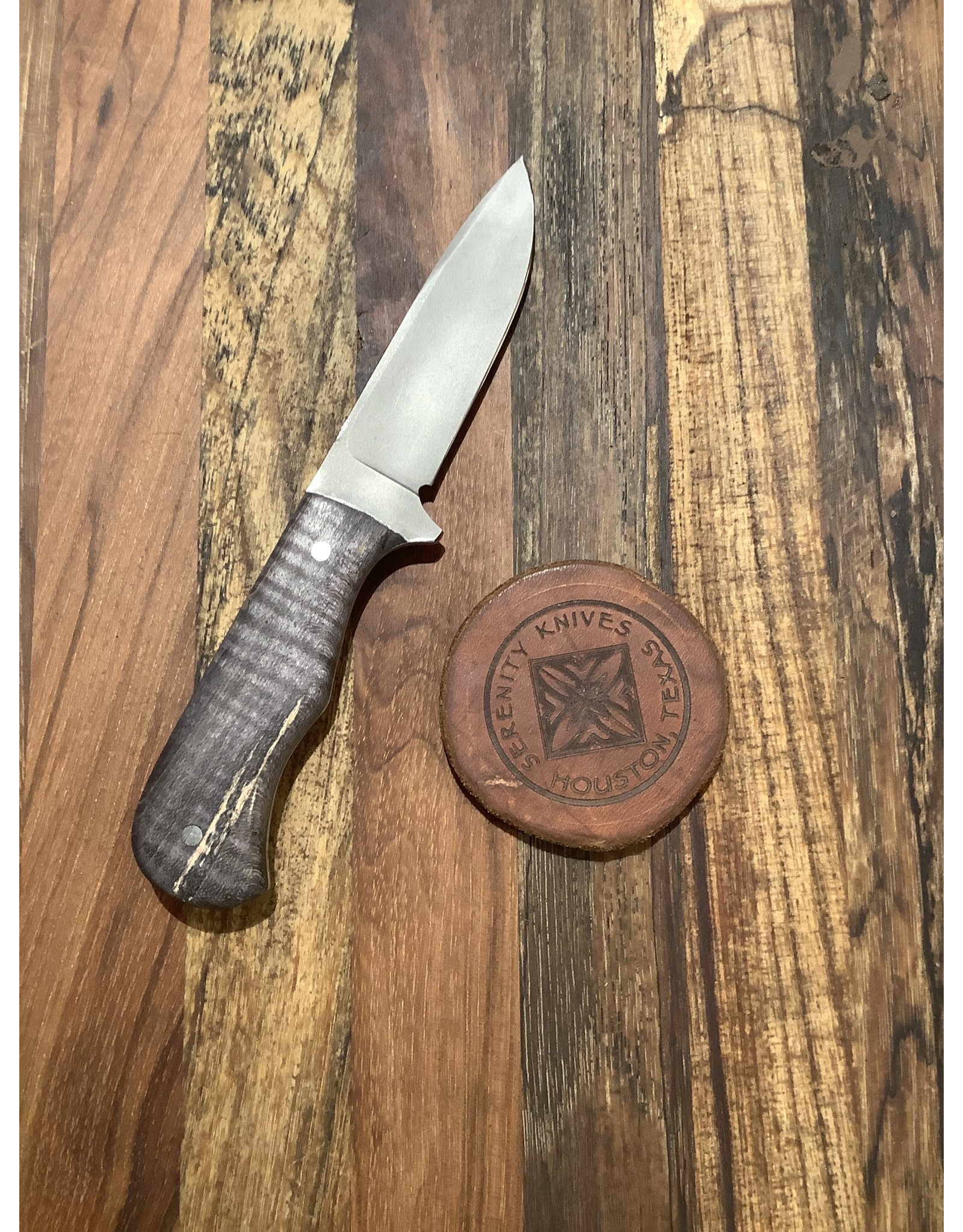 Serenity Small Drop Point Hunter with Black Oak Handle