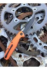 Civivi Wyvern Black D2 blade with Orange FRN