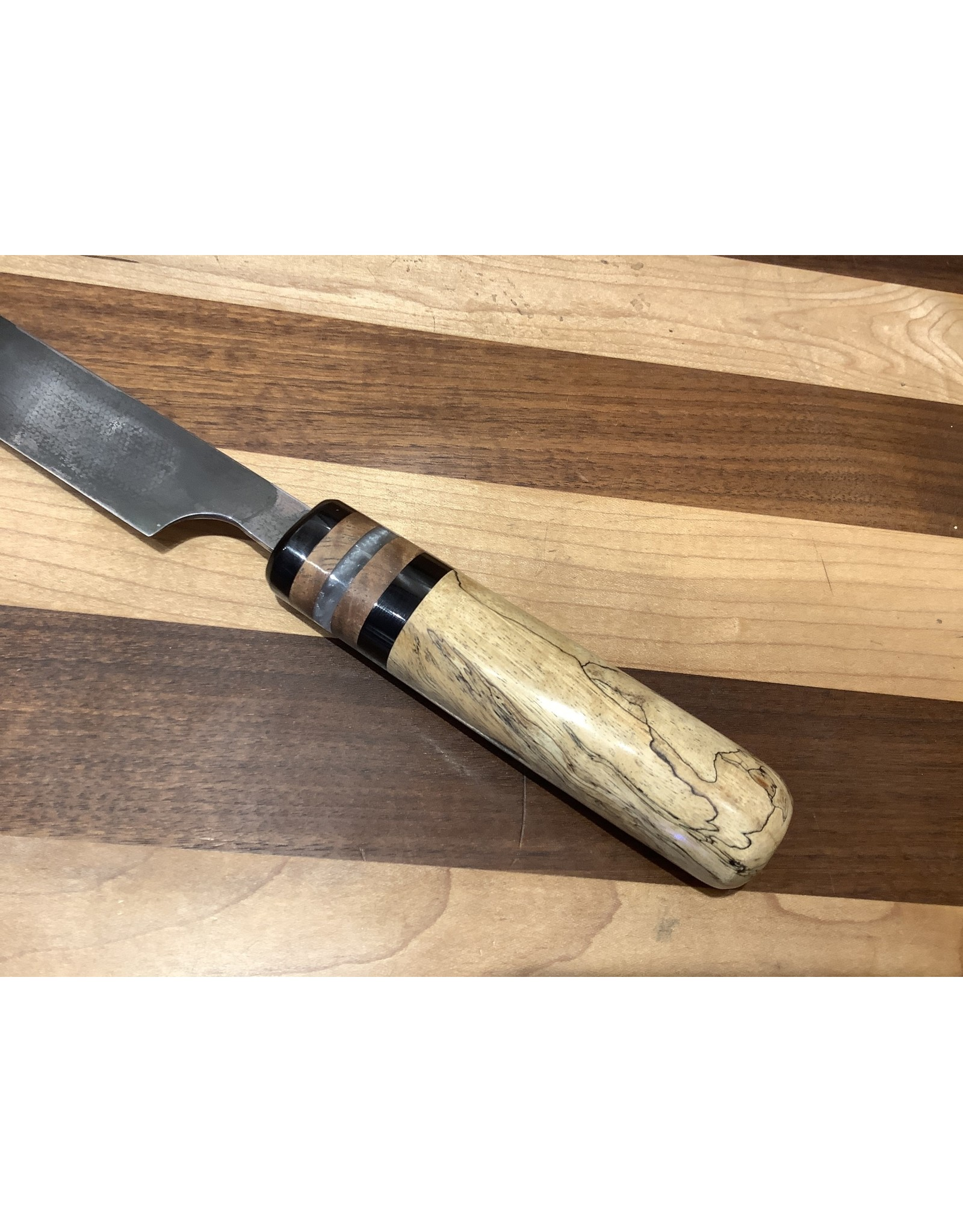 Serenity Wa Handle Yanagiba with a hand rubbed and buffed forge finish