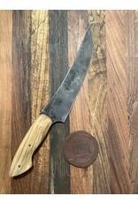 Serenity Wide Boning Knife with Antiqued-Creative Acid Wash Finish