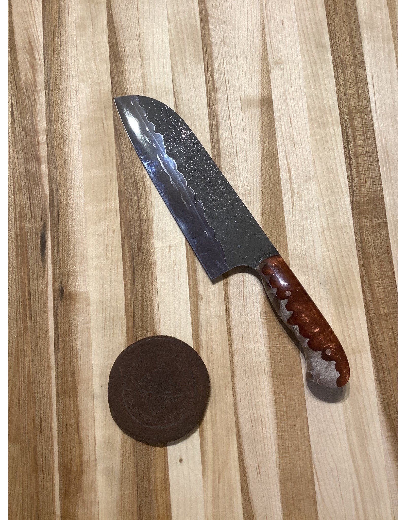 "Serenity Set of Three Kitchen Knives with 12"" Magnet Board"
