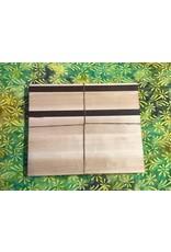 Trinity Craftsman Small Cutting Board Maple with Walnut Texas  and Stripes