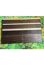Trinity Craftsman Large Cutting Board Walnut with groove  and Maple Texas and stripes