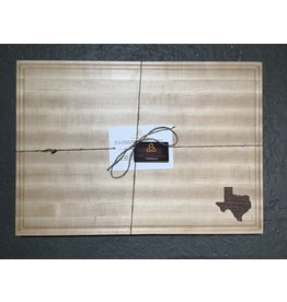 Trinity Craftsman XL Maple Cutting Board with Walnut Texas and Juice Groove