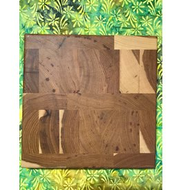 Tin Roof Kitchen and Home Spring Orchard Square Prep Cutting Board