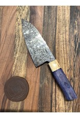 Serenity Mini Gyuto with Dark Matter finish and WA handle