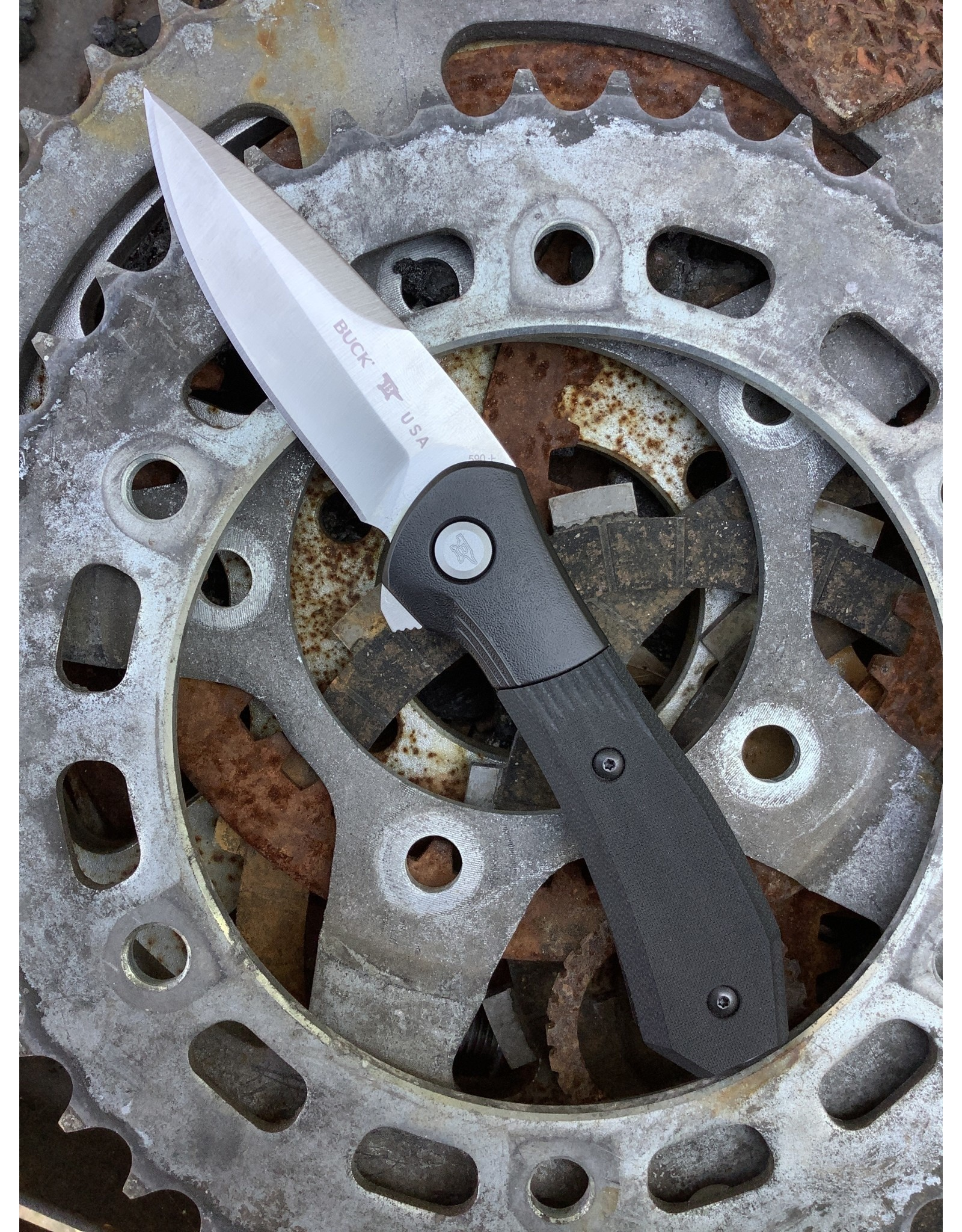 Buck BUCK Paradigm Spring Assist with S35VN blade and Black G-10