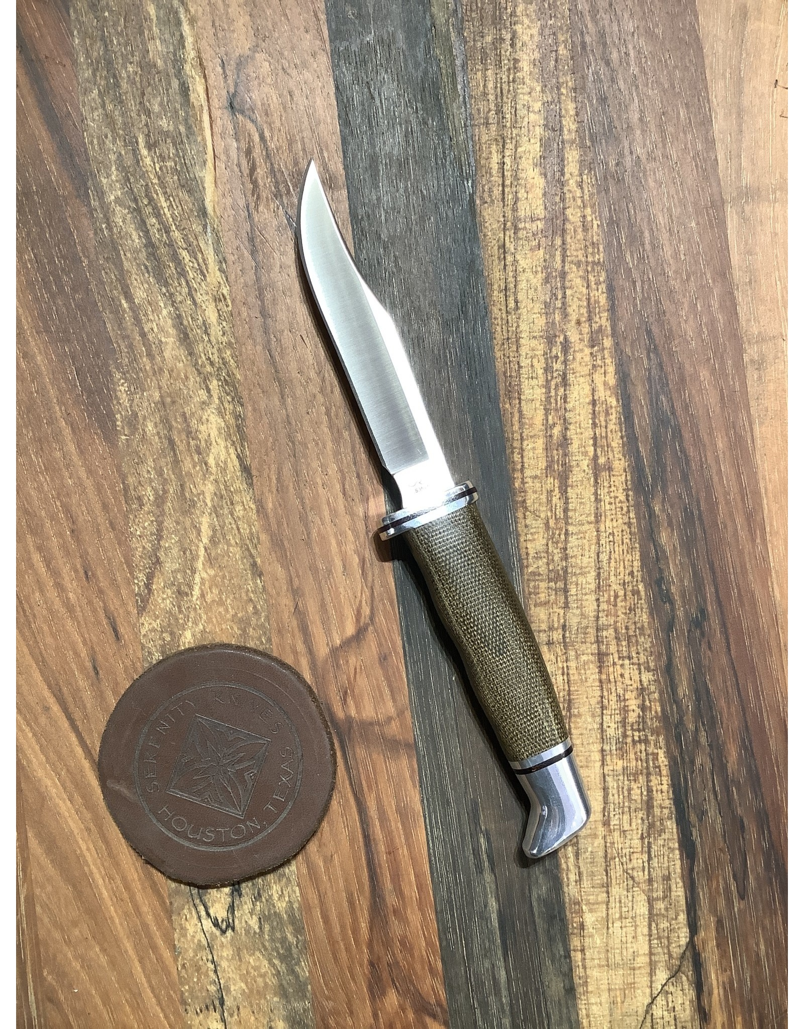 Buck BUCK Woodsman Pro with CPM-S35VN blade and Green Canvas Micarta handle
