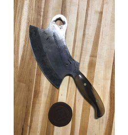 Serenity Vintage Cleaver - Belgian circa 1800's, 52100 High Carbon with Antiqued Finish