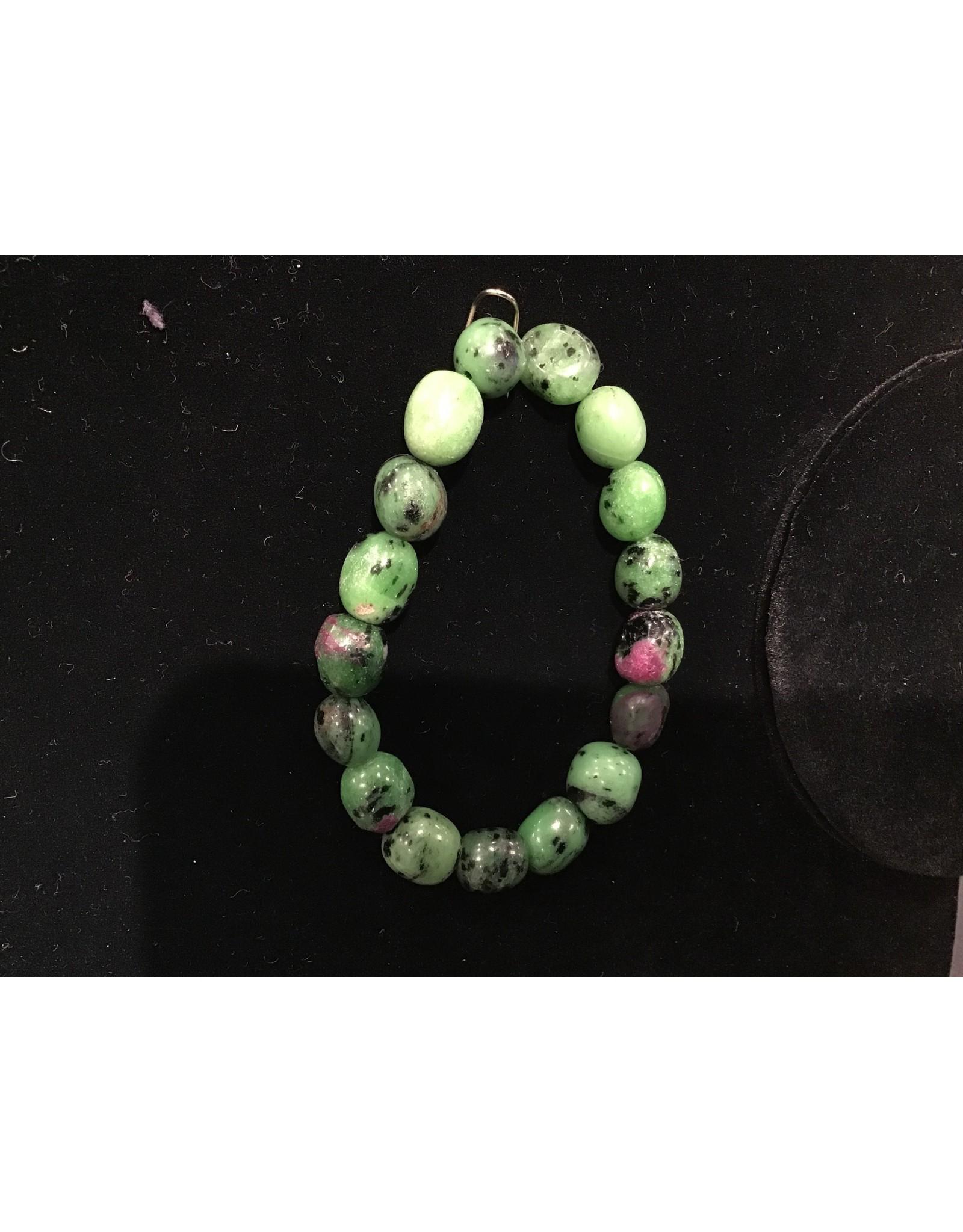 Premium Gemstone Bracelet - Ruby Zoisite