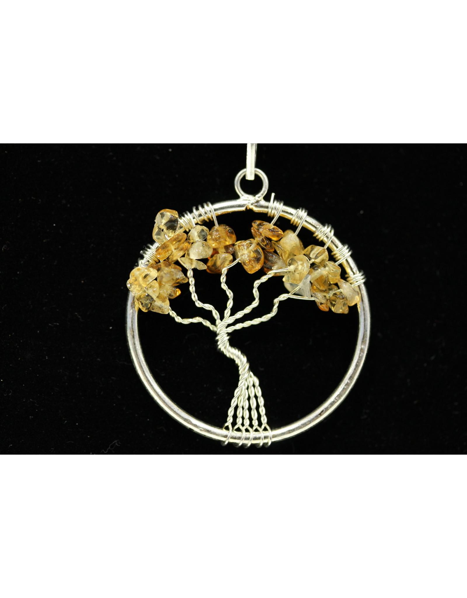Citrine Tree Of Life Pendant