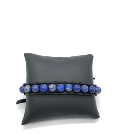 Lapis Lazuli W/ Greek Leather