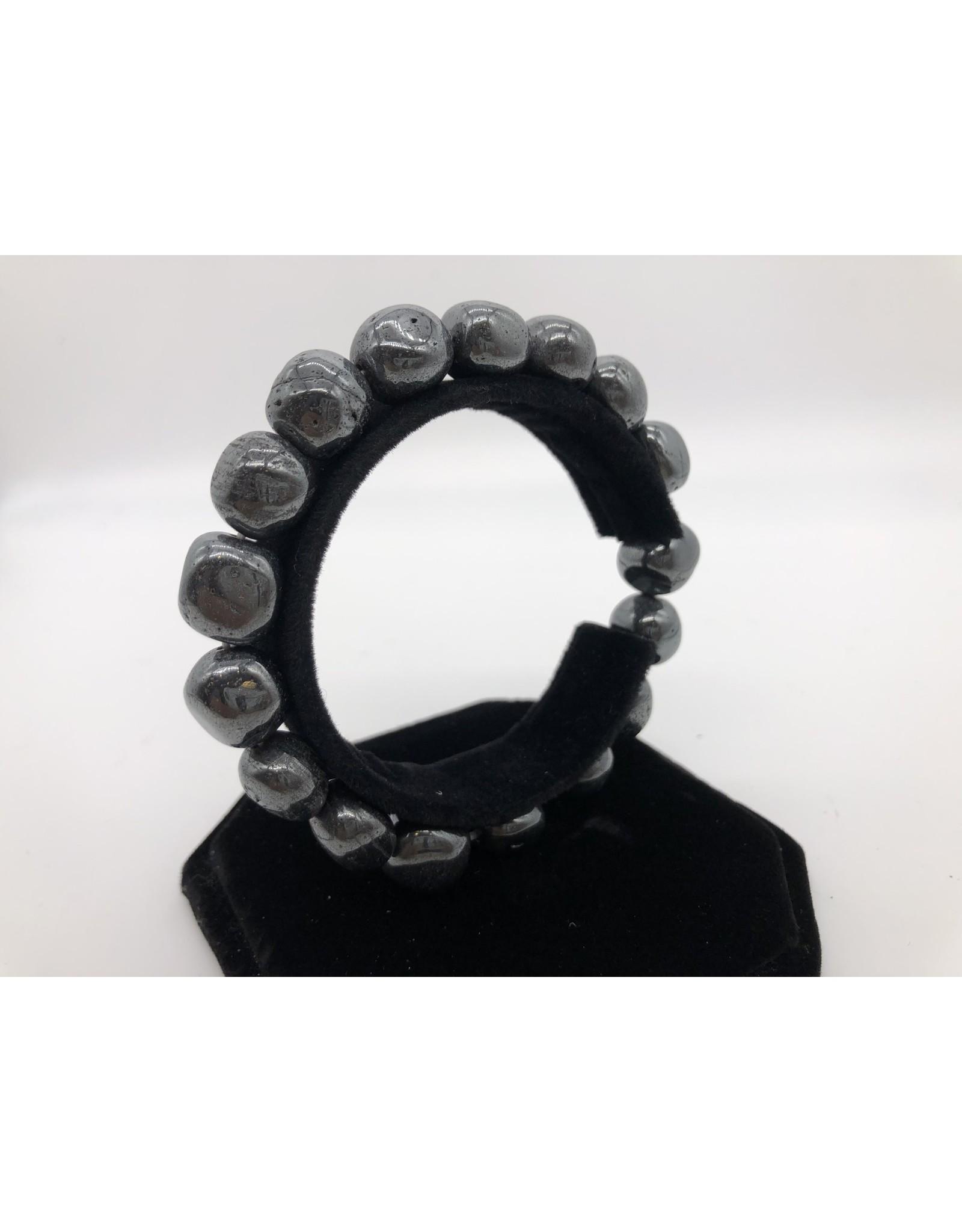 Hematite Tumbled Gemstone Bracelet