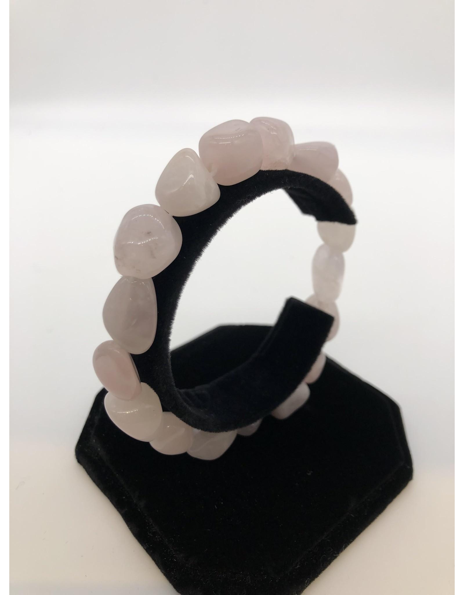 Rose Quartz Tumbled Gemstone Bracelet