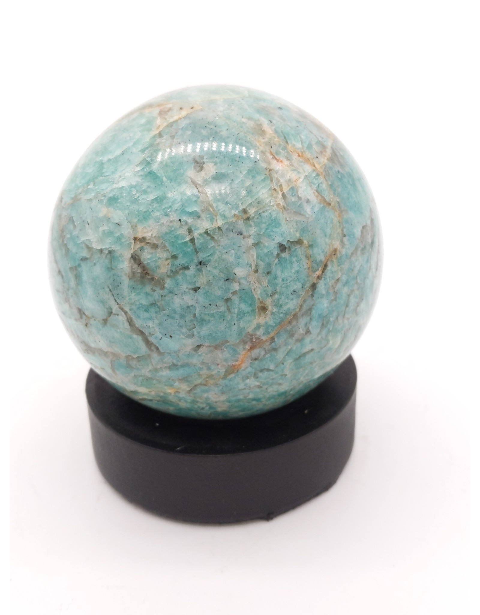 Amazonite & Smoky Quartz Sphere (Madagascar)