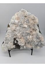 Stilbite on Apophyllite & Chalcedony (India)