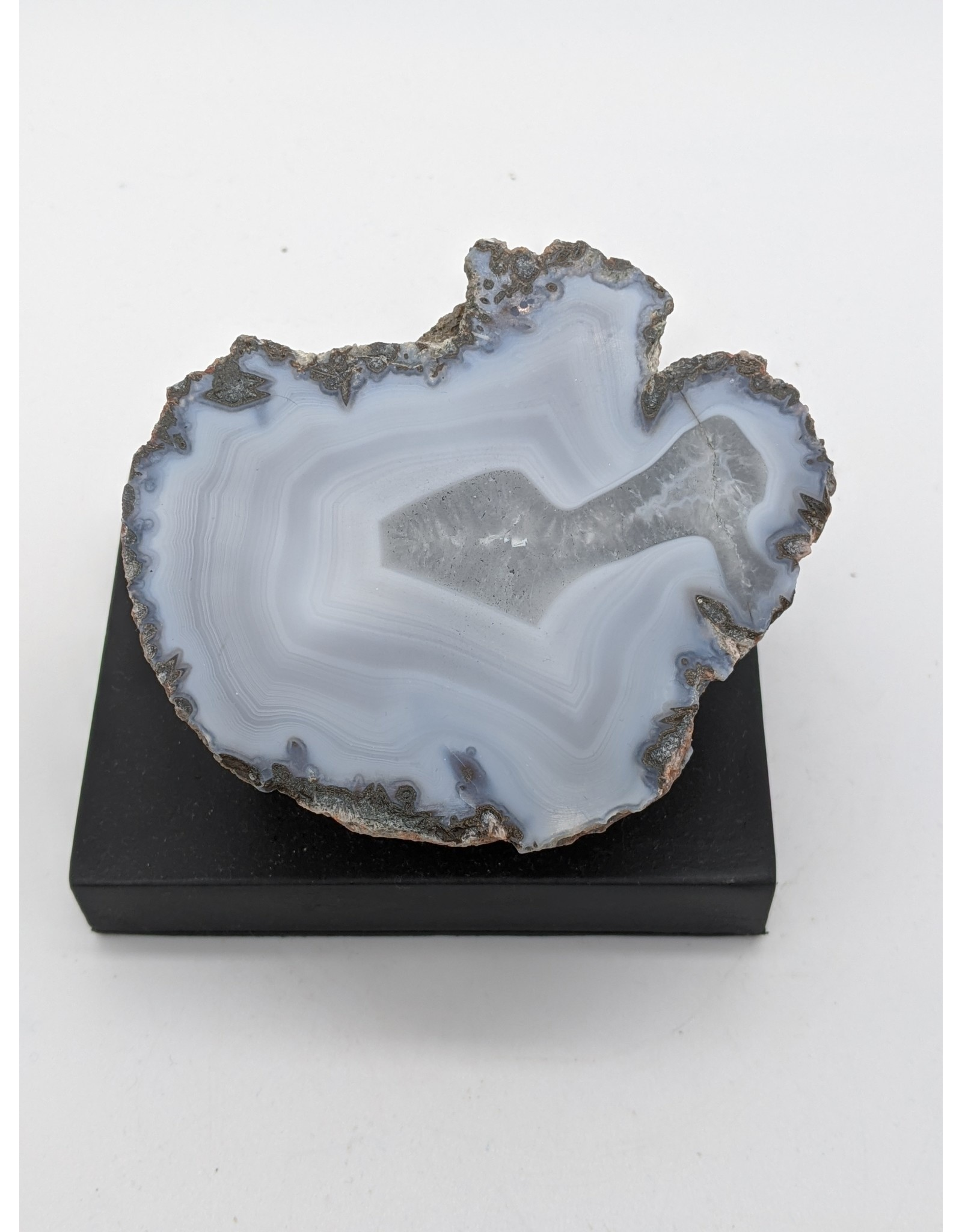 Las Choyas Banded Blue Agate Geode (Mexico) Cut and Polished