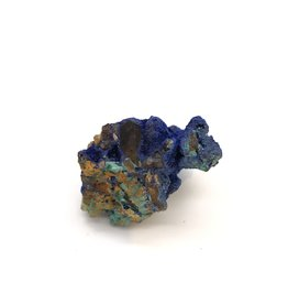 Azurite and Malachite on Quartz Crystals